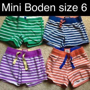 Mini Boden Girls Shorts Size 6